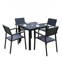 Wholesale Outdoor Garden wicker furniture sets Poly rattan chair  patio chairs and table from china suppliers