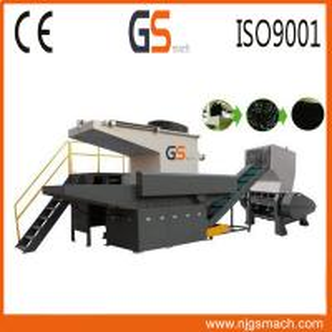 Waste Recycling Single Shaft Plastic Shredder Machine With 300-600kg/H