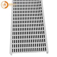 Wholesale 0.8mm Thickness Aluminium Strip Ceiling Panel Commercial Interior Perforated S Shape Hook from china suppliers