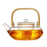 China Transparent Blooming Tea Pot With Filter , Hand Blown Tea Cup Set With Kettle for sale