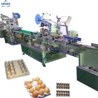 Wholesale Egg tray carton box labeling machine with egg plastic boxes,  flat labeling machine with eggs protector box egg sand box from china suppliers