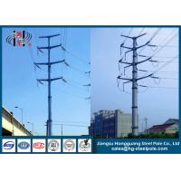 Steel Electrical Power Transmission Poles with Flange Connection for power transmission line