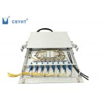 China Plastic drawer fiber optic patch panel 24 port 19inch 1U used in fiber optic cabinet on sale