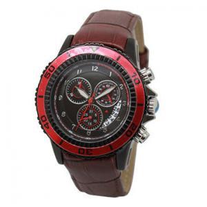 Best Water Resistant Red Multifunction Wrist Watch For Men 2.2 * 2.0cm wholesale