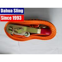 Wholesale 5000kg Red Rubber Coating Cargo Ratchet Tie Down Straps with Double J hook from china suppliers