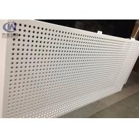 China 1220*2440mm Round Hole Bending Perforated Aluminum Sheet Metal for Inner Decoration on sale
