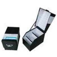 Black Rigid Cardboard Storage Gift Boxes with Laminated for sale