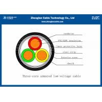 Wholesale 0.6/1KV Armoured  3 Cores Low Voltage Power Cable XLPE Shehted (CU/PVC/XLPE/STA/NABY/N2XBY) from china suppliers