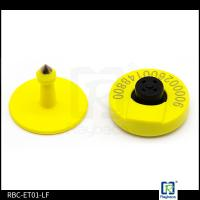 Wholesale Yellow Colour Electronic Ear Tags / RFID Cattle Gps Tracking Ear Tags from china suppliers