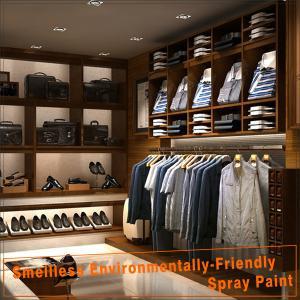 Modern wood retail menswear shop interior design