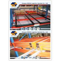Wholesale Conventional Push Back Rack Deep Four Pallet Racking Storage For Logistics Centers from china suppliers