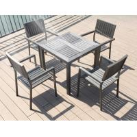 Wholesale Modern imitative wood chair Outdoor Garden furniture sets Coffe table poly wood chair from china suppliers