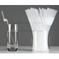 China Disposable cute plastic white straight drinking straw, PLA individually wrapped drinking Straws, PLA straws disposable on sale