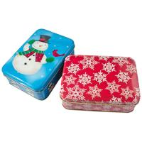 Holiday Cookie Metal Tin Container , Food Storage Tinplate Boxes