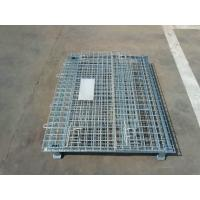 Wholesale Foldable Rolling Wire Mesh Container Steel Storage Roll Containers Sliver Color from china suppliers