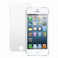 Wholesale Clear Screen Protector, Suitable for iPhone 5, Made of Transparent PET Material from china suppliers
