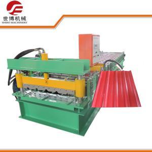 High Speed 18m / Min Roofing Sheet Making Machine With Hydraulic Cutting Machine