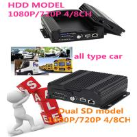 Wholesale 3G 4G Wifi GPS 4CH SD Card HDD  HD Mobile DVR With sim card for Car Security from china suppliers