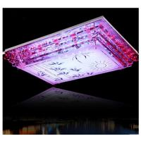Wholesale Steel rectangle crystal ceiling lamp  LED glass ceiling lamp from china suppliers