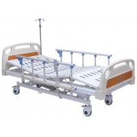 China Professional Electric Hospital Bed With Rails 4 Inch Wheels 5 Functions Adjustable on sale