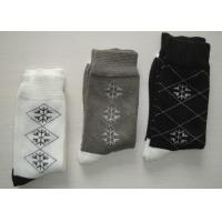 Wholesale Soft Argyle Mens Work Boot Socks , Winter Fleece Socks With Hand Link from china suppliers