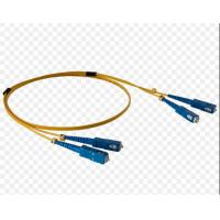 Wholesale E2000 FC To LC Fiber Patch Cord , Yellow Fiber Optic Cable Patch Cord Damp Proof from china suppliers