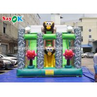 Quality 6*4m Animal Theme Party Inflatable Bouncer Slide For Advertising for sale