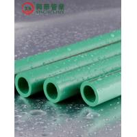China Green Polypropylene Random Copolymer Pipe / Heat Resistant Plastic Pipe Smooth Surface on sale