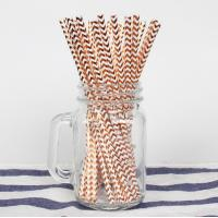 Quality Colorful Gold Stamping Wave Pattern Decorative Paper Drinking Straws Customized for sale