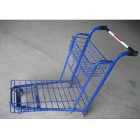 China Removable Plastic Supermarket Trolley Wire Mesh Platform Trolley Cart on sale