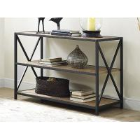 Wholesale X Design Metal Frame Wooden Book Case With Shelves , Book Organizer Shelf from china suppliers