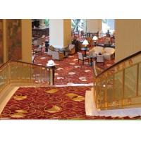 China Luxury Soft Loop Pile Stair Step Handmade Wool Carpets , Hand Knitted Rug on sale