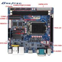 Best LGA115 Industrial PC Motherboard H110 Chipset , 2 RJ45 LAN , 12 COM Ports wholesale