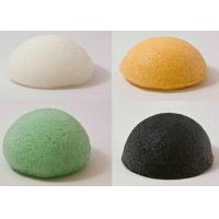 Wholesale Spa 100% natural Konjac Sponge Flour White / Black / Green for facial cleaning from china suppliers
