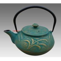 Buy cheap Green Dragonfly Pattern Cast Iron Teapot Set in China with Four 150ml Tea Cups from wholesalers