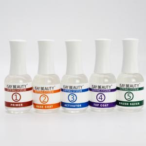 China Long lasting dipping powder nails liquid base coat for dip powder no crack Liquid based on sale