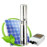 Wholesale 1 inch outlet 1hp BLDC solar submersible 48v dc water pump price deep well Submersible solar waterpump from china suppliers