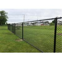 China Hot Dipped Galvanized Chain Link Fence Fabric 6 Foot Green Color 9 Gauge for sale