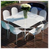 Wholesale Outdoor Dining Room Table Top with Tempered/Toughened Glass with CE from china suppliers