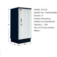 Wholesale Professional Fireproof File Cabinet Anti - Magnetic Standard Size D Rolling Steel from china suppliers