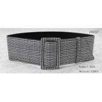 Wholesale 7.85cm Wide Ladies Belts , Womens Fashion Belts Buckle Covered With Fabric from china suppliers
