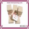 Cotton insert jewelry paper gift box/Kraft jewelry paper box ME-CD033 for sale
