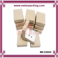 Square kraft jewelry paper box with cotton for earring/bracelet/necklace ME-CD033 for sale