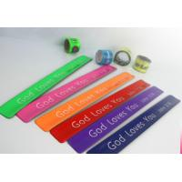 New customed print logo promotional pvc reflective bang crack clap bracelet gifts outdoor
