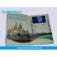 4.3 inch / 5 Inch TFT LCD Video Brochure , Folded LCD Greeting Card