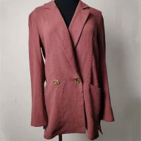 Wholesale Double - Breasted Casual Cotton Blazer Womens Casual Office Blazer from china suppliers
