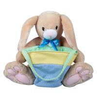 China Fuzz animal bunny with basket, extrem soft ,cuddle play sets for kids, best gifts for toddles, sanfe and Eco friendly on sale