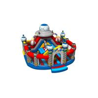 China Spaceship Themed Inflatable Fun City Round Shape For Amusement Park New Design Inflatable Big Fun City for sale