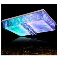Wholesale Rectangle crystal ceiling lamp modern indoor LED glass ceiling lamp from china suppliers