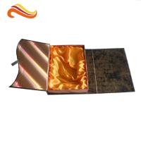 Crocodile Embossed Leather Square Luxury Gift Boxes With Golden Satin Covering for sale